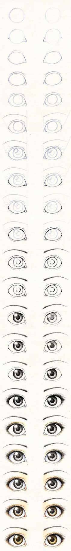 guia para pintar ojos realistas: