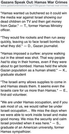 War Crimes Reported by Palestinians -- against #Hamas