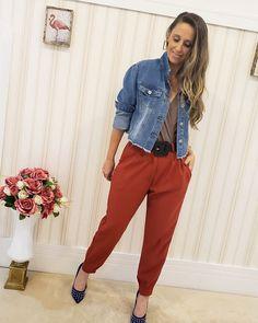 Looks Style, Ideias Fashion, Harem Pants, Suits, Straight Trousers, Shades, Vestidos, Blouses, Harem Trousers