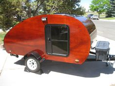 Garage-Built Wyoming Woody Teardrop Trailer (pinned by haw-creek.com)