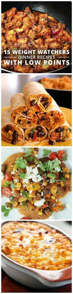 15 Weight Watchers Dinner Recipes With Low Points Weightwatchers Wwpoints Lowcalorie Weight Watcher Dinners, Plats Weight Watchers, Weight Watchers Free, Healthy Cooking, Healthy Snacks, Healthy Eating, Healthy Recipes, Healthy Dinners, Clean Eating