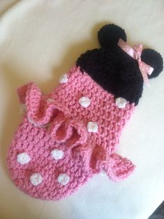 Cocoon, Hooded, Minnie Mouse, Newborn, Pink, Halloween Costume, Photography Prop on Etsy, $48.00