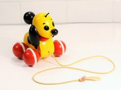 Brio Toys, Learn To Tell Time, Pull Toy, Design Language, Dog Toys, Vintage Toys, Wooden Toys, Fiber Art, Simple Designs
