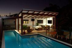 Gazebo Swimming Pool House Design Plans Empire - Home Art Decor Courtyard Pool, Backyard Pavilion, Courtyard House Plans, Backyard Pergola, Patio Roof, Pergola Carport, Pergola Swing, Modern Gazebo, Modern Deck