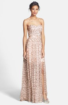 Erin by Erin Fetherston 'Chloe' Foiled Chiffon Gown | Nordstrom