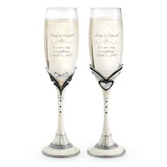 Mr. & Mrs. Toasting Flutes at Things Remembered