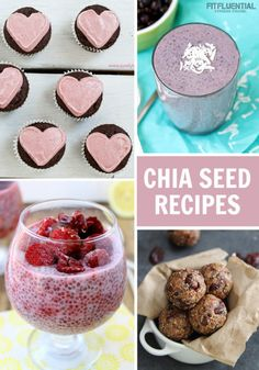 Healthy chia seed recipes to enjoy for breakfast - dessert or in between via @FitFluential #fitfluential