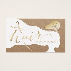 Hair Stylist Beauty Girl Rustic Salon Appointments Business Card