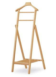 Collapsible clothes rack in beech, for apartment Clothes stand