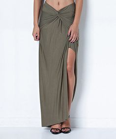 Another great find on #zulily! Olive Twist Maxi Skirt #zulilyfinds