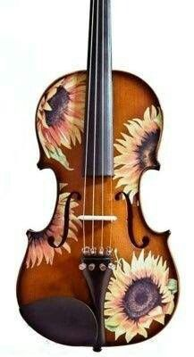 Another wonderfully painted violin!