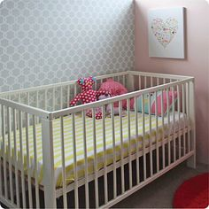Habitat Baby Trellis removable nursery wallpaper Australia in child's room