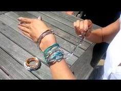 How to wear the lizzy classic 4 strand leather wrap bracelet by Lizzy James Jewelry - YouTube