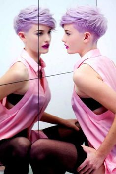 A BEAUTIFUL LITTLE LIFE: A Rainbow of Colored Pixie Cuts for Spring