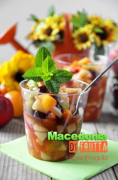 Macedonia di frutta with our Cup Beppino #Poloplast