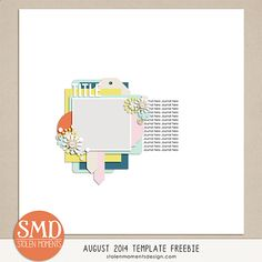 FREE digital scrapbooking template - create a page and you could win $10 to my store!