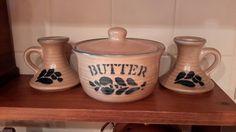 Butter Bowl & Candle Holder Set by OurVintageNest on Etsy