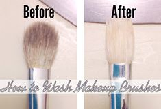 How to Wash Your Makeup Brushes- use olive oil an dish detergent!