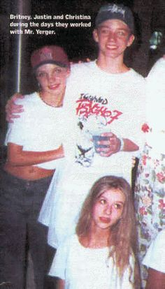 Britney, Justin, and Christina (she's over it)