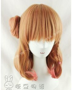 Shoulder Long Inner Curls Ponytail Bun Lolita Wig for Girls #lolita #wig