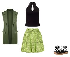 """""""LIME GREEN + BLACK + FOREST GREEN"""" by fultonhoward ❤ liked on Polyvore featuring Kenzo, Miss Selfridge, WearAll and Frye"""