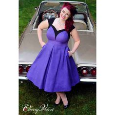 PRE-ORDER - Dita Dress - Purple and Black $190.00 http://www.curvyclothing.com.au/index.php?route=product/product&path=95_151&product_id=9249