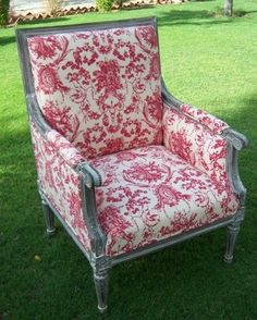 Country French Armchair Love the chair.... dont like the toile.....