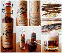 Today I made my own vanilla extract! I've been wanting to make my own vanilla for a long time so I asked for a Homemade Vanilla Extrac. Vanilla Extract Recipe, Bacardi, Great Birthday Gifts, Shake, Vodka Bottle, Goodies, Birthdays, Yummy Food, Kitchen