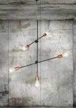 Lampa wisząca loftowa z żarówkami / Hanging loft lamp with light bulbs. Vintage Industrial Lighting, Retro Lighting, Shop Lighting, Interior Lighting, Lustre Vintage, Keep The Lights On, D House, Wall Lights, Ceiling Lights