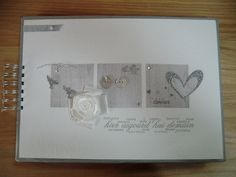 Livre d'or gris scrap