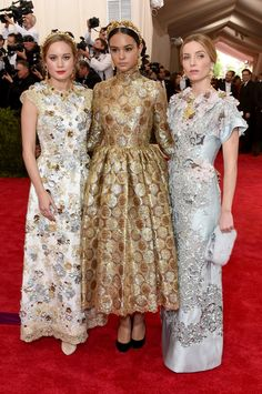 Brie Larson, Courtney Eaton and Annabelle Wallis - Met Gala 2015 in Dolce & Gabbana