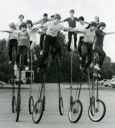 St. Helen's unicycle team