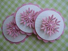 Pink Snowflake Embellishments