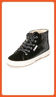 Superga Women's 2095 Velvtw Fashion Sneaker, Black, 39.5 EU/8.5 M US - Sneakers for women (*Amazon Partner-Link)