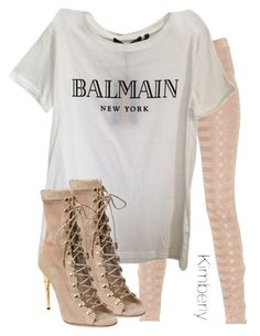 """Untitled #2064"" by whokd ❤ liked on Polyvore featuring Balmain"