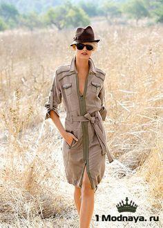 Оригинальное платье сафари 2015 - с чем носить, фото | 1Modnaya.ru