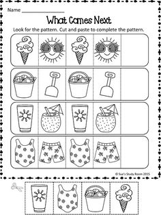 Nice Printable Worksheets For Preschool that you must know, You're in good company if you're looking for Printable Worksheets For Preschool. Pattern Worksheets For Kindergarten, Patterning Kindergarten, Summer Worksheets, Weather Worksheets, Kindergarten Worksheets, Thanksgiving Worksheets, Printable Worksheets, Preschool Lessons, Preschool Kindergarten