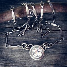White Topaz Sterling Silver Necklace… White Topaz necklace sterling silver dap chain 6mm by LisasLovlies on Etsy https://www.etsy.com/listing/102471250/white-topaz-sterling-silver-necklace