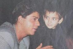 Shahrukh with little akshara hasan.