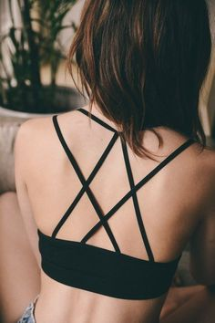 Looking for the perfect bralette for layering under low-cut tees, dresses and more? It's only logical to pick the Double Criss Cross Strappy Bralette for all your flowy summer outfits! Lingerie Outfits, Pretty Lingerie, Women Lingerie, Sexy Lingerie, Lingerie Sets, Strappy Bralette, Black Bralette, Body Suit Outfits, Trendy Swimwear