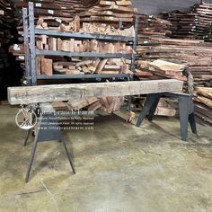 Reclaimed from a 150-year-old barn, handcrafted without the use of power tools. Hewn wood beam mantel #418 120″ long and 9″ x 8″ and 212 lbs Our standard shipping and packing included within the lower 48 USA! #reclaimedbarnwood #rusticmantel Rustic Fireplace Mantels, Wood Mantels, Natural Wood Furniture, Outdoor Furniture, Outdoor Decor, Redwood Burl, Reclaimed Barn Wood, Wood Beams, Power Tools