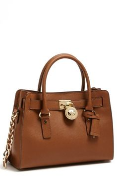 MICHAEL Michael Kors 'Hamilton' Saffiano Leather Satchel, Medium Luggage