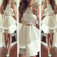 Charming Ivory Short Prom Dresses,Charming Homecoming Dresses,Homecoming Dresses,SC72