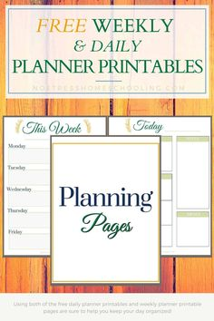 Using both of the free daily planner printables and weekly planner printable pages are sure to help you keep your day organized! #freeweeklyplannerprintables #weeklyplannerprintables