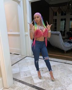 23 Facts About Cardi B You Probably Didn't Know B Fashion, Fashion Outfits, Jeans Fashion, Fashion Group, Cardi B Photos, Girl Outfits, Cute Outfits, Fashionable Outfits, Dark Denim