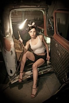 Hotrod Pinup , check more here : http://hotrod-girls.tumblr.com/