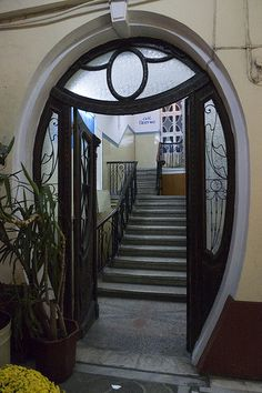 Art Nouveau Door, Thessaloniky, Central Macedonia in Greece. I'm installing this prior to becoming a proper Bond villain.
