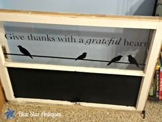 Blue Star Antiques: Grateful and a Chalkboard Window