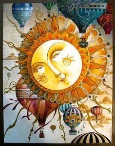 SUN - illustration by David Galchutt Sun Moon Stars, Sun And Stars, Illustrations, Illustration Art, Good Day Sunshine, Rug Hooking Patterns, Sun Art, Whimsical Art, Kitsch