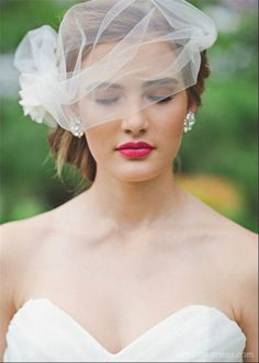 Elegant veil. Uncover more style ideas: http://www.i-do.com.au/wedding-tips/wedding-dresses-wedding-accessories/veils/1687/?utm_source=pinterest&utm_medium=organic&utm_campaign=b_veil&utm_term=general&utm_content=general #bride #veil #beautiful
